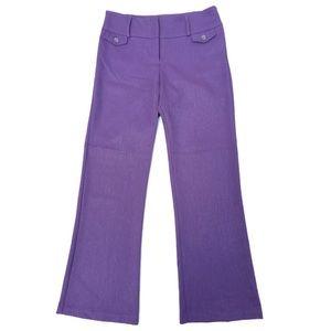 Vintage 90's La Belle Purple Flare Leg Dress Pants